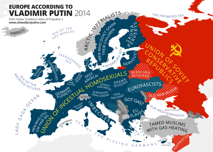 Oekraïense propaganda om Russen te demoniseren